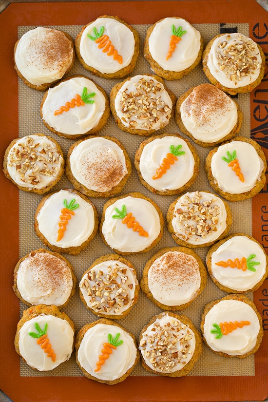 Carrot Cake Cookies with Cream Cheese Frosting - Cooking