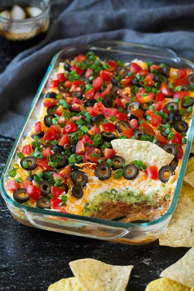 7 Layer Dip {A Crowd Favorite!} - Cooking Classy