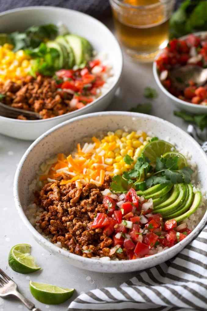 Taco Bowls {Health Veggie Packed Recipe} - Cooking Classy