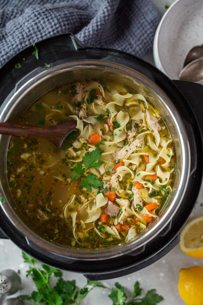 Instant Pot Chicken Noodle Soup - Cooking Classy