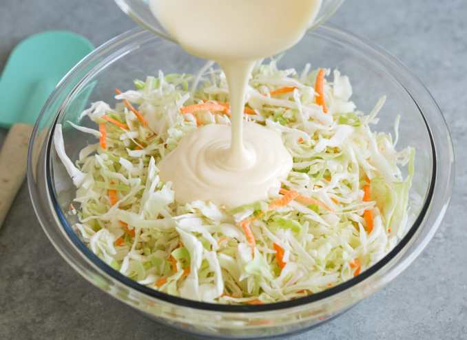 Coleslaw Recipe {Only 4 Ingredients!} - Cooking Classy