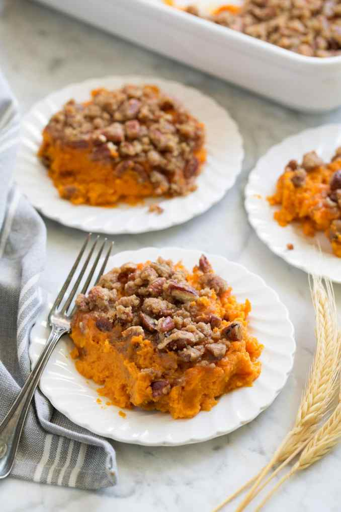 Sweet Potato Casserole {Best Topping!} - Cooking Classy