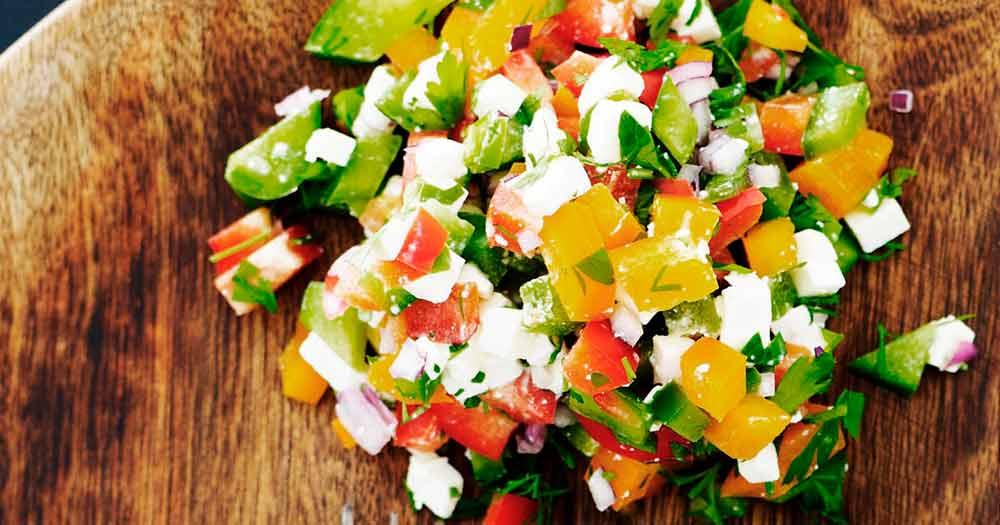 tre peberfrugt salat opskrift