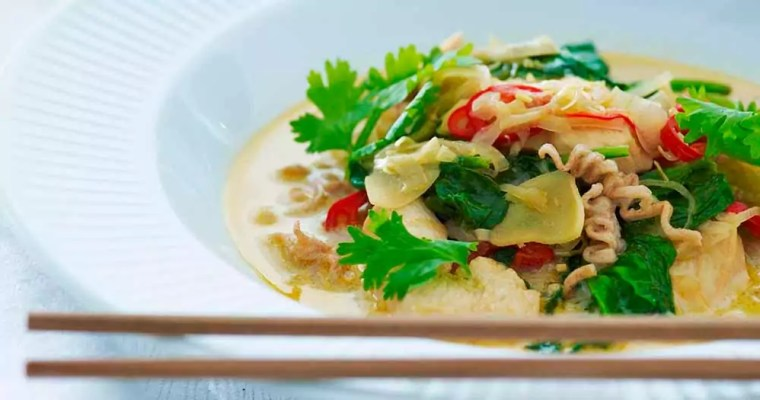 Laksa – spicy suppe med kylling