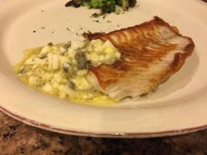 Flounder with Sauce Gribiche - CookingCoOp.com