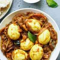 Kerala Style Egg Roast - Nadan Mutta Roast