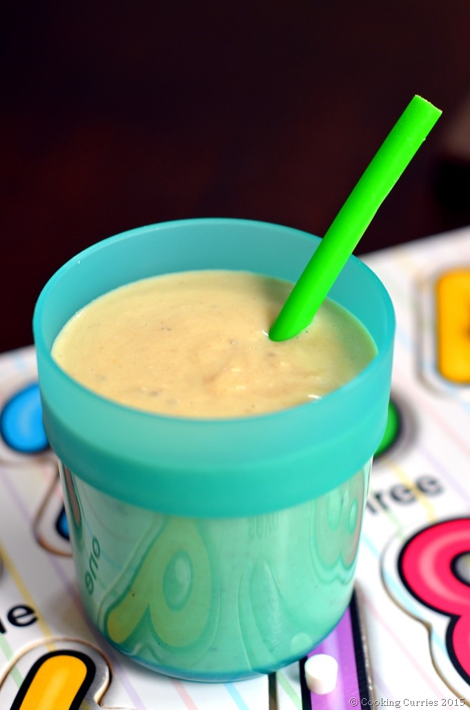Breakfast Smoothie with Avocado Bananas Peanut Butter - Cooking CurriesLittle People Food - Toddler Food, Kids Meal