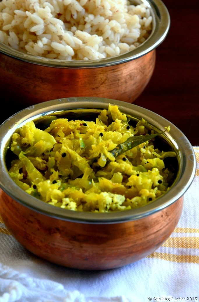 Cababge Thoran - Cabbage Saute with Coconut and Spices - A Kerala Recipe for Sadya - Mirch Masala (2)