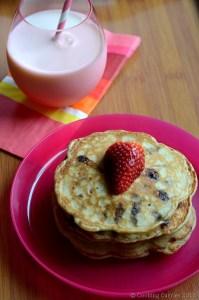 Chocolate Chip Almond Pancakes