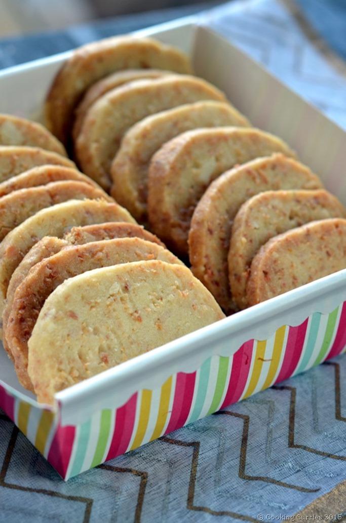 Coconut Orange Macadamia Shortbread Cookies - Mirch Masala (2)