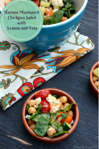 Harissa Marinated Chickpea Salad with Lemon and Feta