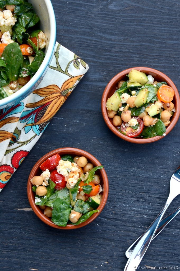 Harissa Marinated Chickpea Salad with Lemon and Feta ...