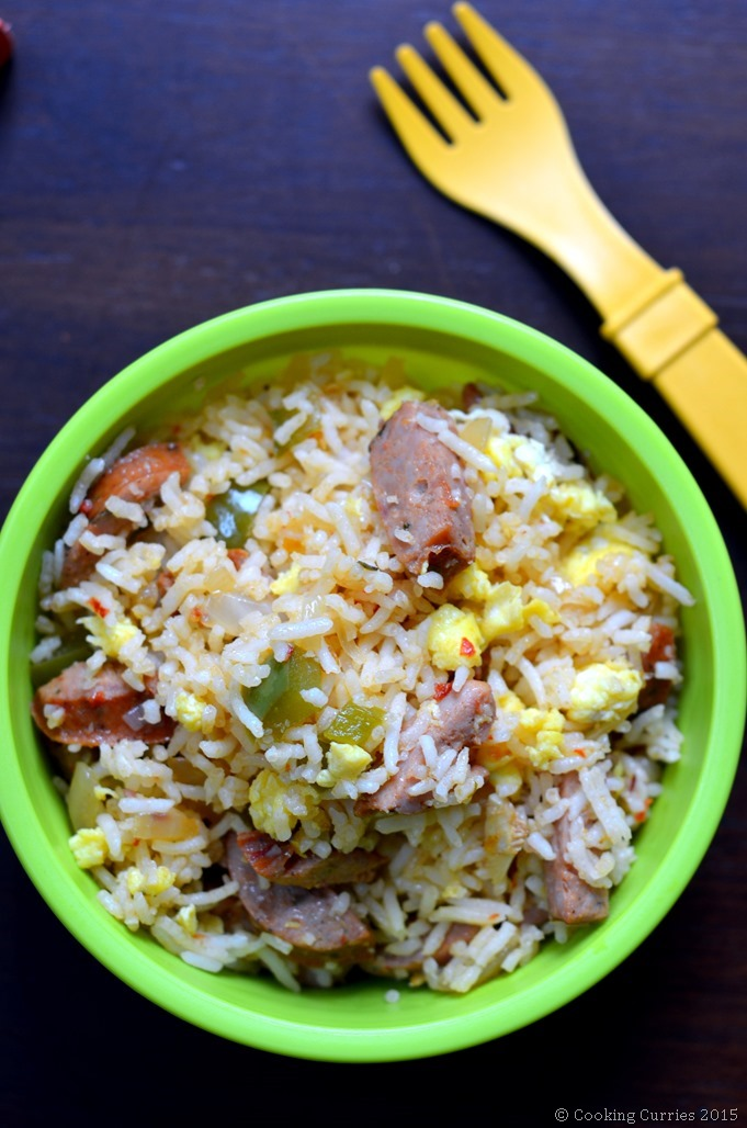 Sausage and Egg Fried Rice - Toddler Kid Friendly Food - #cookingcurrieslittlepeoplefood - Cooking Curries(2)