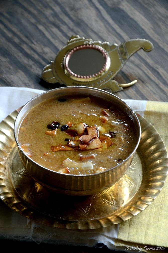 Aval Payasam ~ Beaten Brown Rice (Poha) Pudding with Jaggery and Coconut Milk - Cooking Curries - Kerala Sadya Recipes Vishu Onam (4)