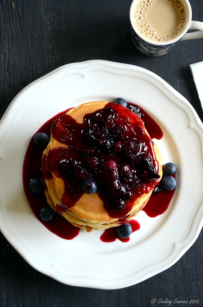 Blueberry Lemon Buttermilk Pancakes - Cooking Curries - Spring Brunch (3)
