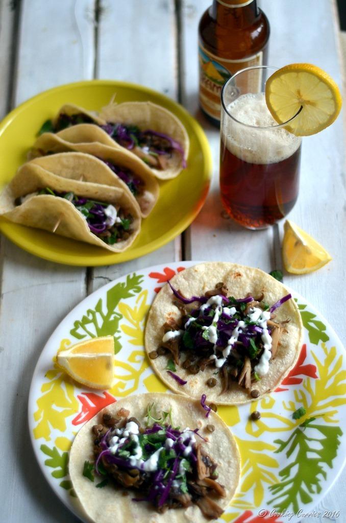 Green Lentils and Maitake Mushrooms Tacos - Gluten Free, Vegetarian - Cooking Curries (3)
