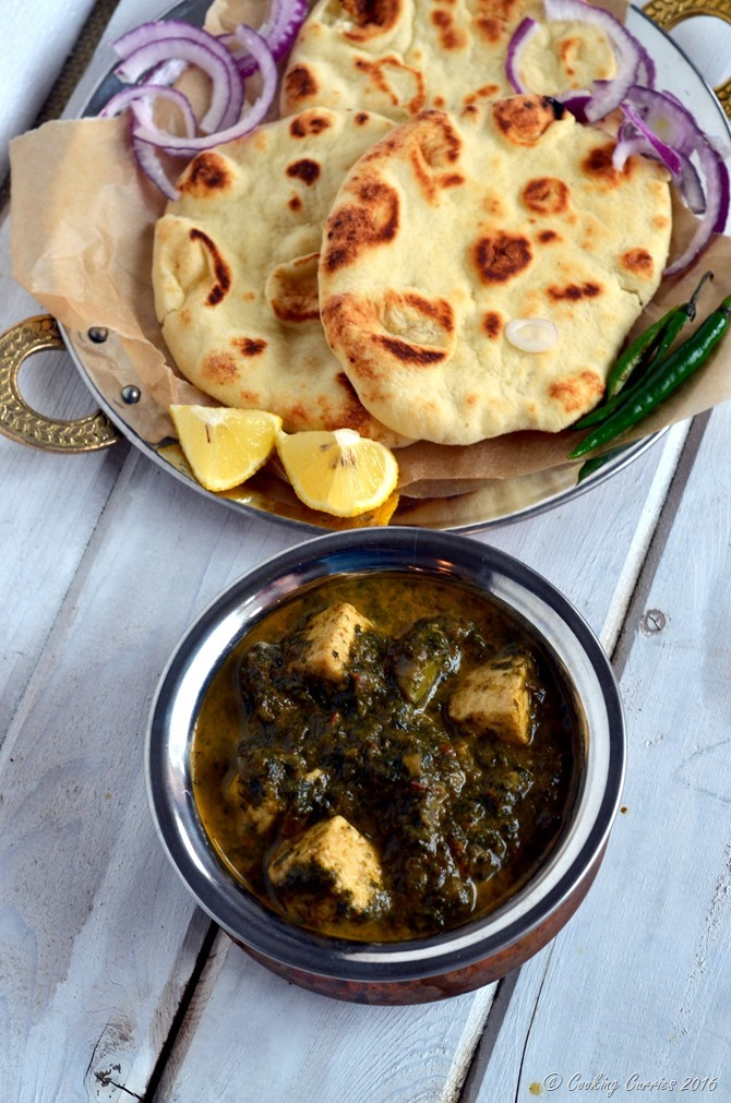 Palak Paneer - Paneer in a mildly spiced Spinach sauce - vegetarian, gluten free - Cooking Curries (2)