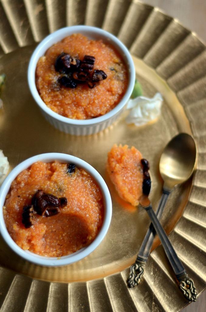 Polenta Kesari - Indian Style Polenta Sweet Pudding - Gluten Free, Vegetarian (3)