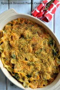 Spinach Broccoli Pasta Casserole