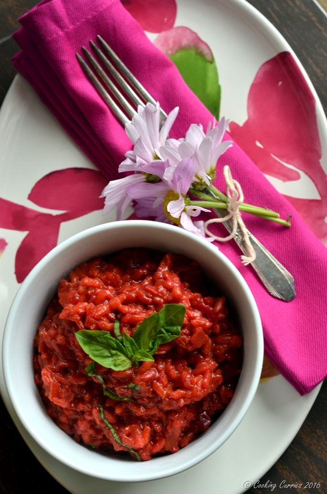 Beetroot Risotto Beet Risotto - Vegetarian, Gluten Free - Cooking Curries (3)