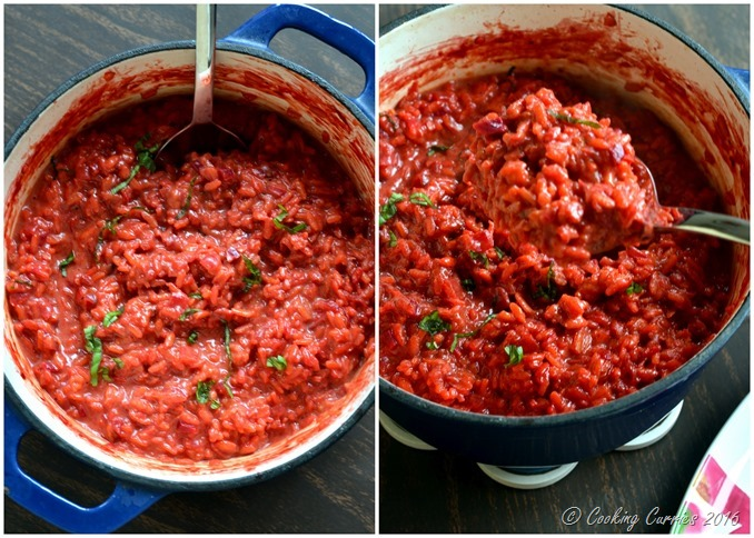 Beetroot Risotto Beet Risotto - Vegetarian, Gluten Free - Cooking Curries (5)