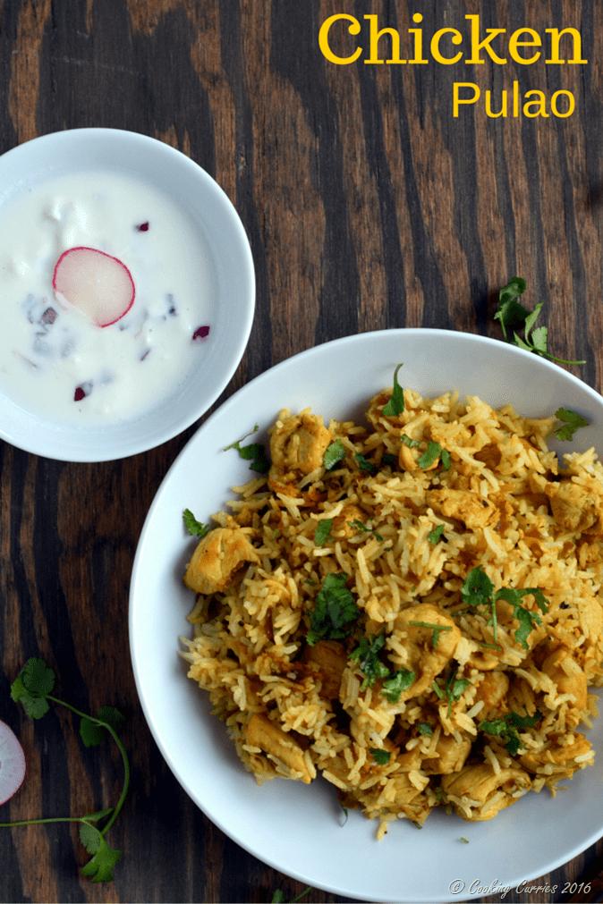 Chicken Pualo , Chicken Pulav - Gluten Free Indian - Cooking Curries