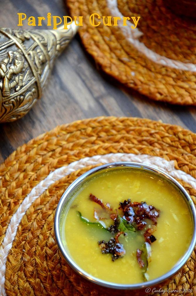 Parippu Curry Kerala Style Sadya