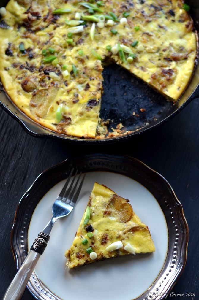 Potato Leek Frittata - A Brunch Recipe - Cooking Curries (2)