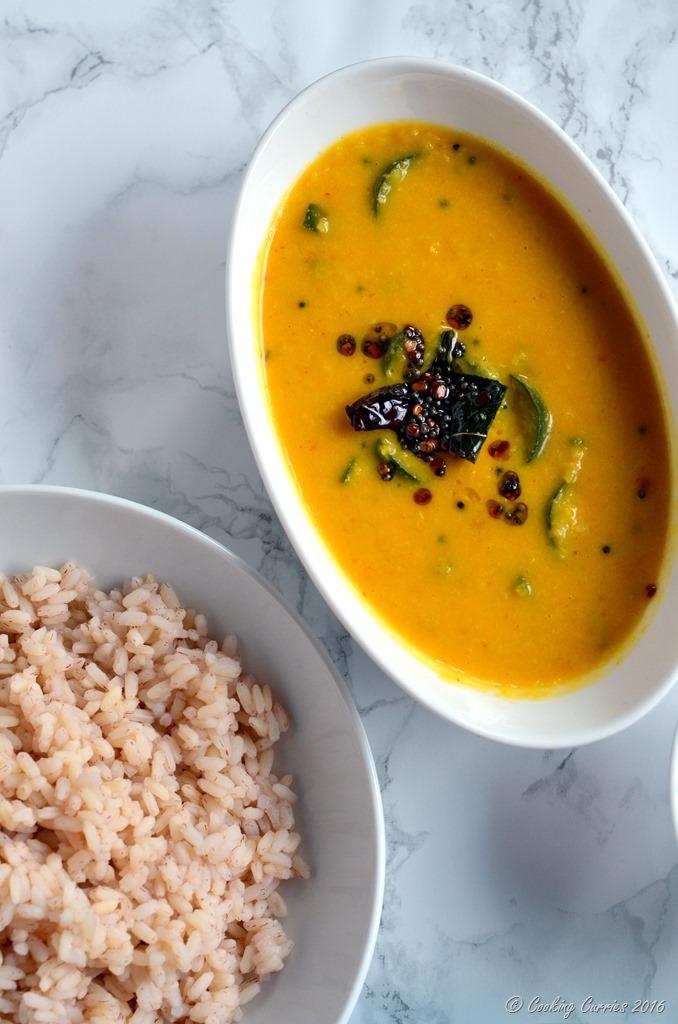 Zucchini Koottu - Zucchini Dal - Zucchini in Mung Dal and Coconut Sauce - Vegetarian , Vegan, Gluten Free (3)