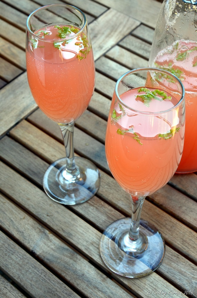 Guava Mint Mimosa - Brunch beverage - www.cookingcurries.com