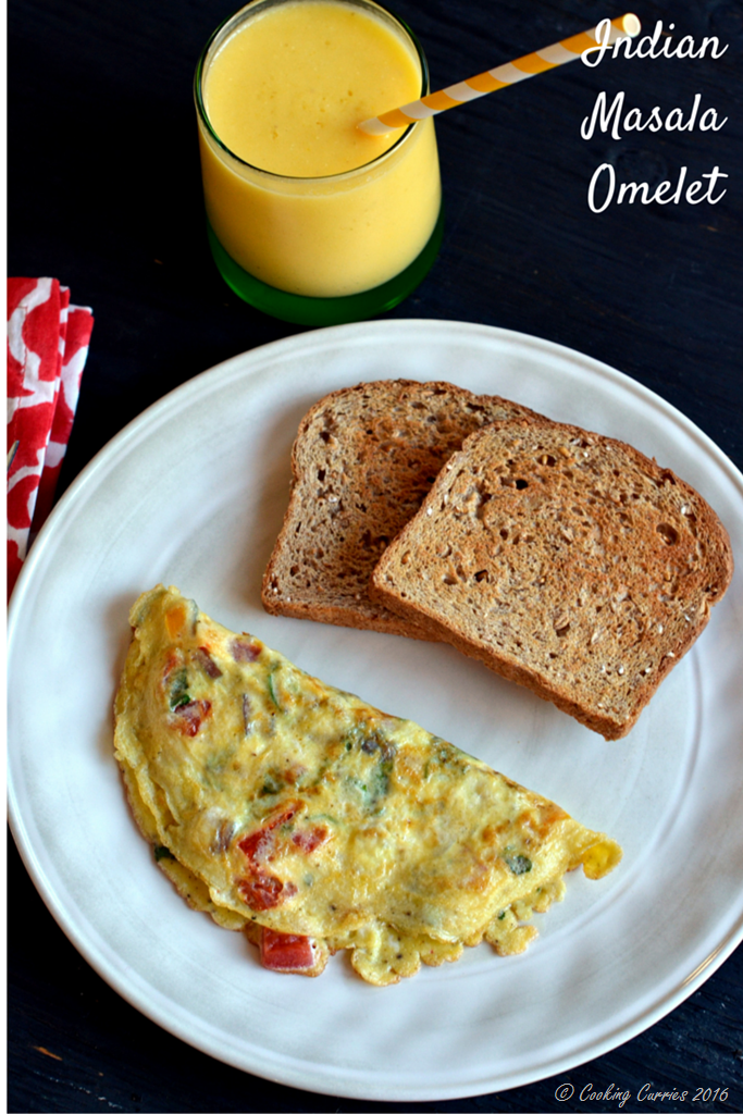 Indian Masala Omelet - Video Recipe - www.cookingcurries.com