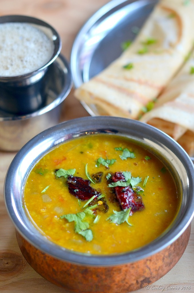 Tiffin Sambar - South Indian Lentil and Tamarind Stew with Vegetables - Vegan and Gluten Free - www.cookingcurries.com (3)