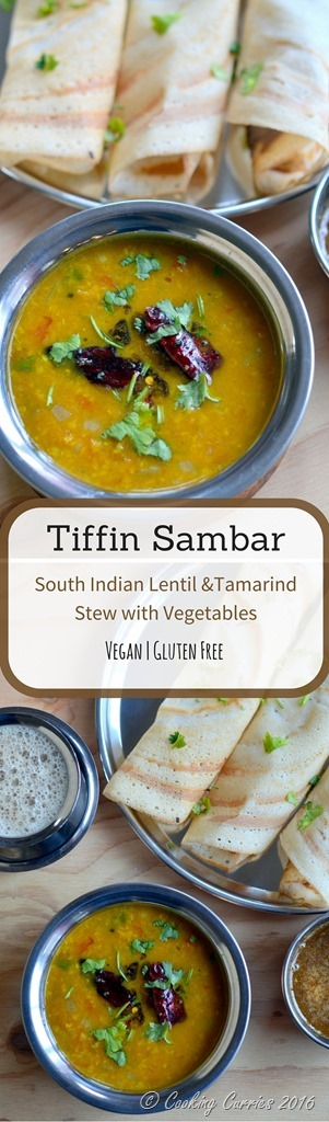 Tiffin Sambar - South Indian Lentil and Tamarind Stew with Vegetables - Vegan and Gluten Free - www.cookingcurries.com (2)
