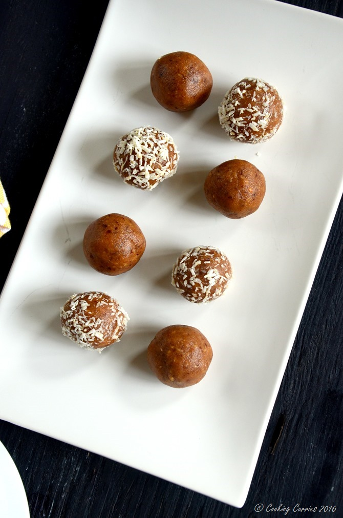 Almond Peanut Butter Rum Balls - no cook no bake recipe - www.cookingcurries.com (4)