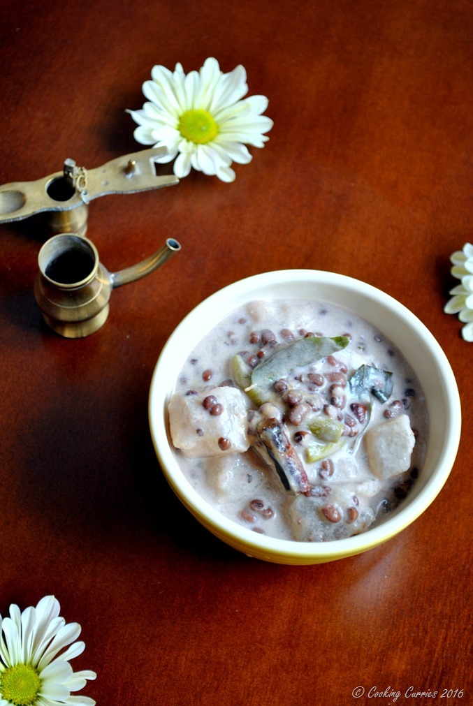 Olan - Winter Melon and Red Beans Curry in Coconut Milk - A Kerala Sadya Recipe - Vegan, Vegetarian - www.cookingcurries.com (3)