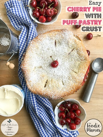 1200x1600 Easy Cherry Pie with Puff Pastry Crust from Lifes Little Sweets