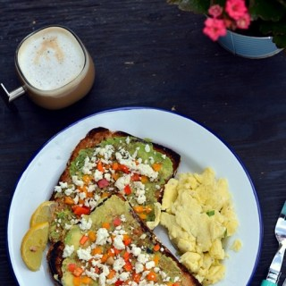 Avocado Toast with Feta and Dukkah - www.cookingcurries.com