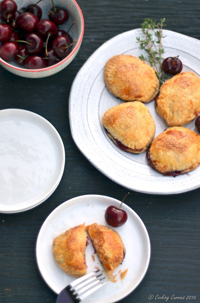 Cherry Thyme Puff Pastry Hand Pies - FoodieMamas - www.cookingcurries.com (3)