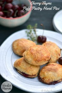 Cherry Thyme Puff Pastry Hand Pies | #FoodieMamas