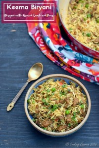 Keema Biryani – Biryani with Ground Lamb and Peas