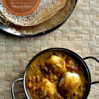 Kerala Style Egg Curry with Coconut Milk ~ Nadan Mutta Curry