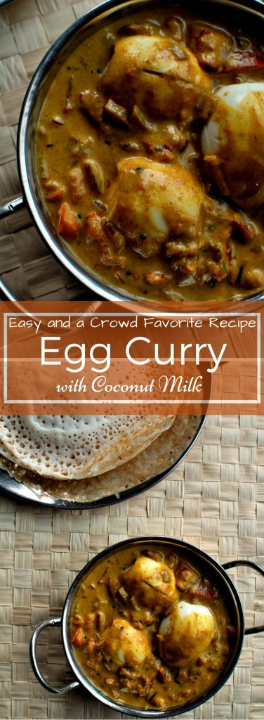 An easy and a crowd pleaser recipe!! Try it now! Kerala Style Egg Curry with Coconut Milk - www.cookingcurries.com