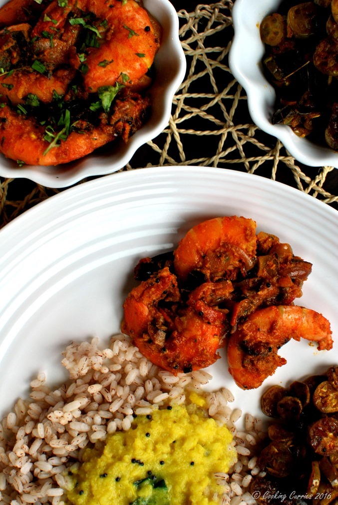 Nadan Prawns Masala Roast - Kerala Style Shrimp Masala Roast - www.cookingcurries.com- (4)