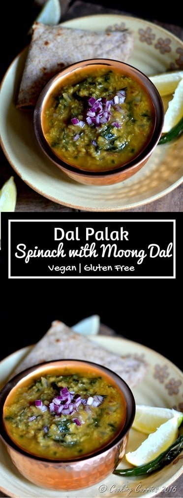 Dal Palak - Spinach with Moong Dal - Indian, Vegan, Vegetarian, Gluten Free - www.cookingcurries.com (2)