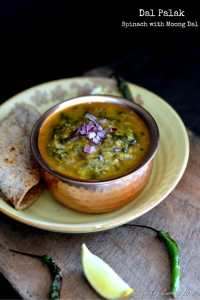 Dal Palak ~ Spinach with Moong Dal