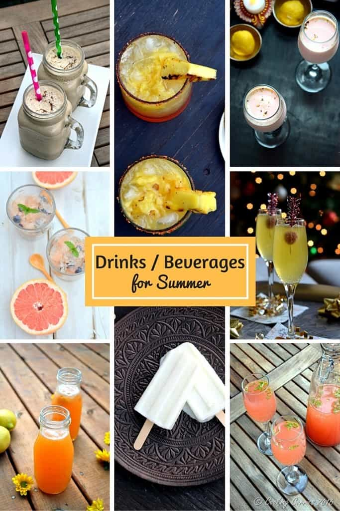 Drinks and Beverages for Summer Entertaining - Look for more recipes in the Ultimate Summer Entertaining Guide on www.cookingcurries.com