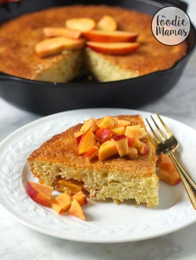 Nectarine-Skillet-Cake