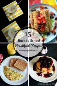 15+ Back to School Breakfast Recipes