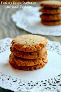 Eggless Honey Cardamoma Cookies