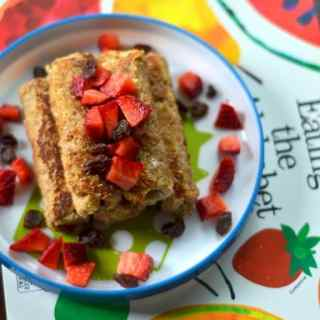 Raisin Cream Cheese French Toast Roll Ups for Kids - Little People Food